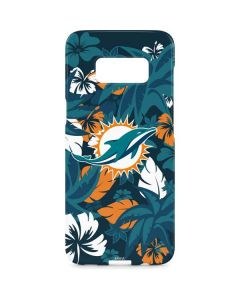 Miami Dolphins Tropical Print Galaxy S8 Plus Lite Case