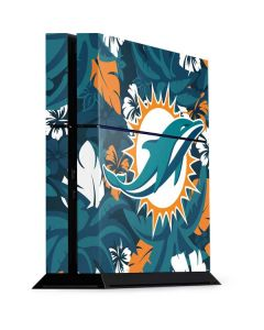 Miami Dolphins Tropical Print PS4 Console Skin