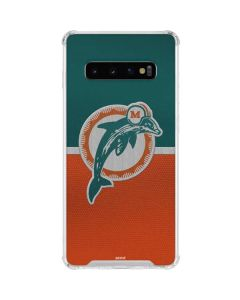 Miami Dolphins Vintage Galaxy S10 Clear Case