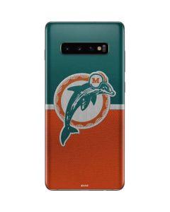 Miami Dolphins Vintage Galaxy S10 Plus Skin