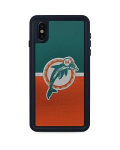 Miami Dolphins Vintage iPhone XS Max Waterproof Case