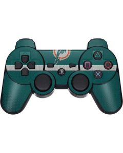Miami Dolphins Vintage PS3 Dual Shock wireless controller Skin