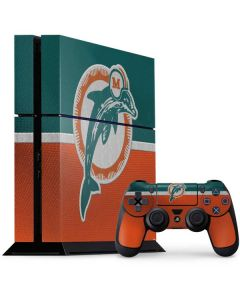 Miami Dolphins Vintage PS4 Console and Controller Bundle Skin