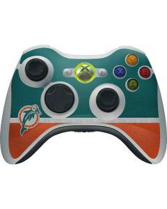 Miami Dolphins Vintage Xbox 360 Wireless Controller Skin