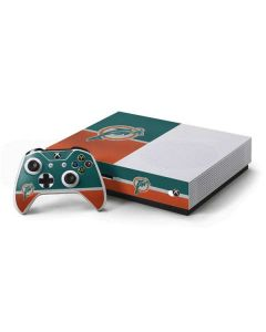 Miami Dolphins Vintage Xbox One S Console and Controller Bundle Skin