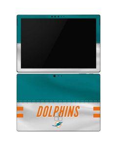 Miami Dolphins White Striped Surface Pro 6 Skin