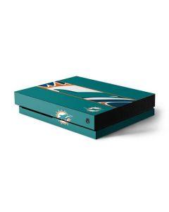 Miami Dolphins Zone Block Xbox One X Console Skin