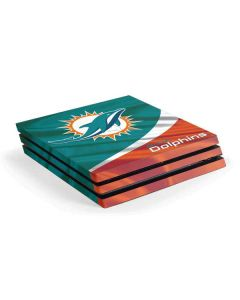 Miami Flag Design PS4 Pro Console Skin