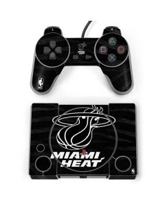 Miami Heat Black Animal Print PlayStation Classic Bundle Skin