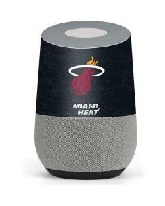Miami Heat Black Partial Logo Google Home Skin