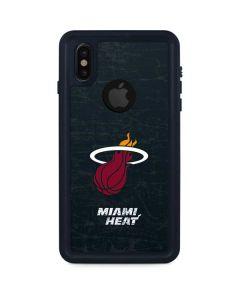 Miami Heat Black Partial Logo iPhone XS Waterproof Case