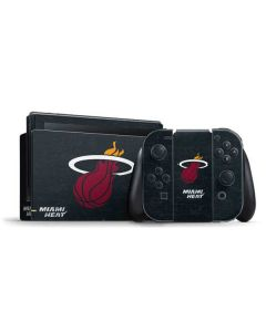 Miami Heat Black Partial Logo Nintendo Switch Bundle Skin