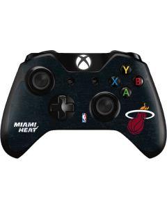 Miami Heat Black Partial Logo Xbox One Controller Skin