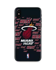 Miami Heat Blast iPhone X Skin