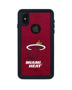 Miami Heat Red Primary Logo iPhone XS Waterproof Case