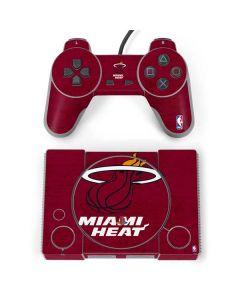 Miami Heat Red Primary Logo PlayStation Classic Bundle Skin