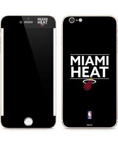 Miami Heat Standard - Black iPhone 6/6s Plus Skin