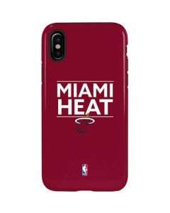 Miami Heat Standard - Red iPhone X Pro Case