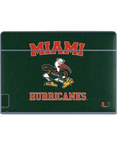 Miami Hurricanes Distressed Galaxy Book Keyboard Folio 12in Skin