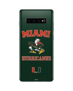 Miami Hurricanes Distressed Galaxy S10 Plus Skin