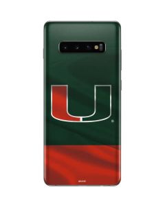 Miami Hurricanes Flag Galaxy S10 Plus Skin