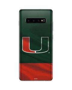 Miami Hurricanes Flag Galaxy S10 Plus Skin