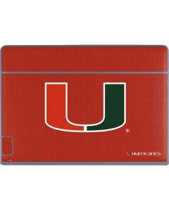Miami Hurricanes Jersey Galaxy Book Keyboard Folio 12in Skin