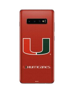 Miami Hurricanes Jersey Galaxy S10 Plus Skin
