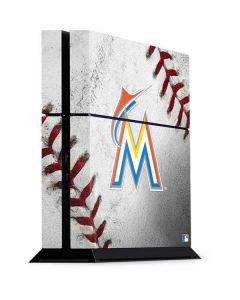 Miami Marlins Game Ball PS4 Console Skin