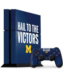 Michigan Hail to the Victors PS4 Console and Controller Bundle Skin