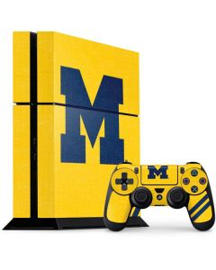 Michigan Large Logo PS4 Console and Controller Bundle Skin