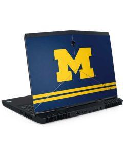 Michigan Logo Striped Dell Alienware Skin