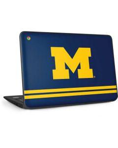 Michigan Logo Striped HP Chromebook Skin