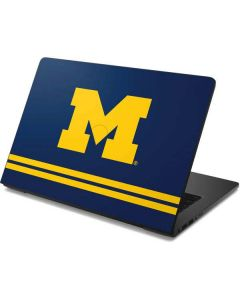 Michigan Logo Striped Dell Chromebook Skin