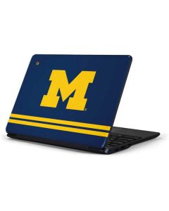Michigan Logo Striped Samsung Chromebook Skin