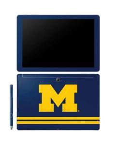 Michigan Logo Striped Galaxy Book 10.6in Skin
