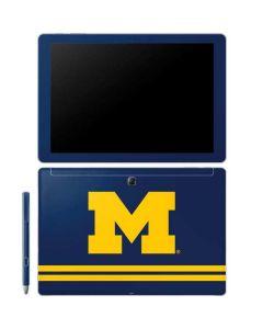 Michigan Logo Striped Galaxy Book 12in Skin