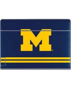 Michigan Logo Striped Galaxy Book Keyboard Folio 12in Skin