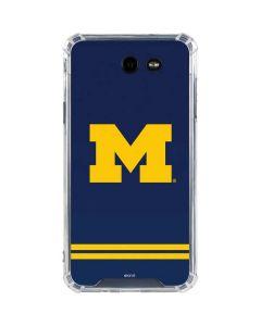 Michigan Logo Striped Galaxy J7 (2017) Clear Case