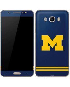 Michigan Logo Striped Galaxy J7 Skin