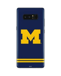 Michigan Logo Striped Galaxy Note 8 Skin