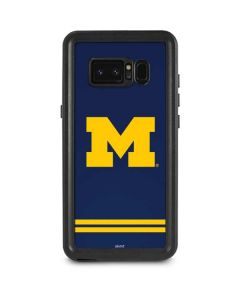 Michigan Logo Striped Galaxy Note 8 Waterproof Case