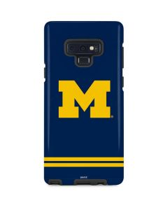 Michigan Logo Striped Galaxy Note 9 Pro Case