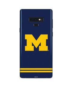 Michigan Logo Striped Galaxy Note 9 Skin