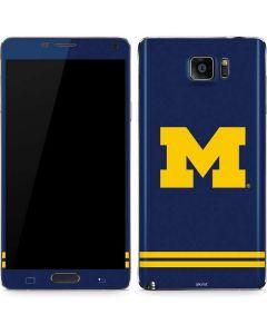 Michigan Logo Striped Galaxy Note5 Skin