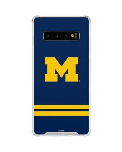 Michigan Logo Striped Galaxy S10 Clear Case