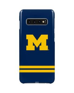 Michigan Logo Striped Galaxy S10 Plus Lite Case