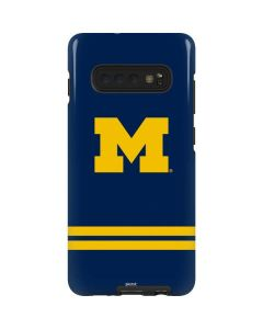 Michigan Logo Striped Galaxy S10 Plus Pro Case
