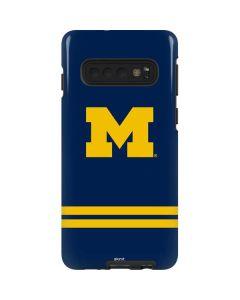 Michigan Logo Striped Galaxy S10 Pro Case