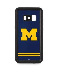 Michigan Logo Striped Galaxy S8 Plus Waterproof Case